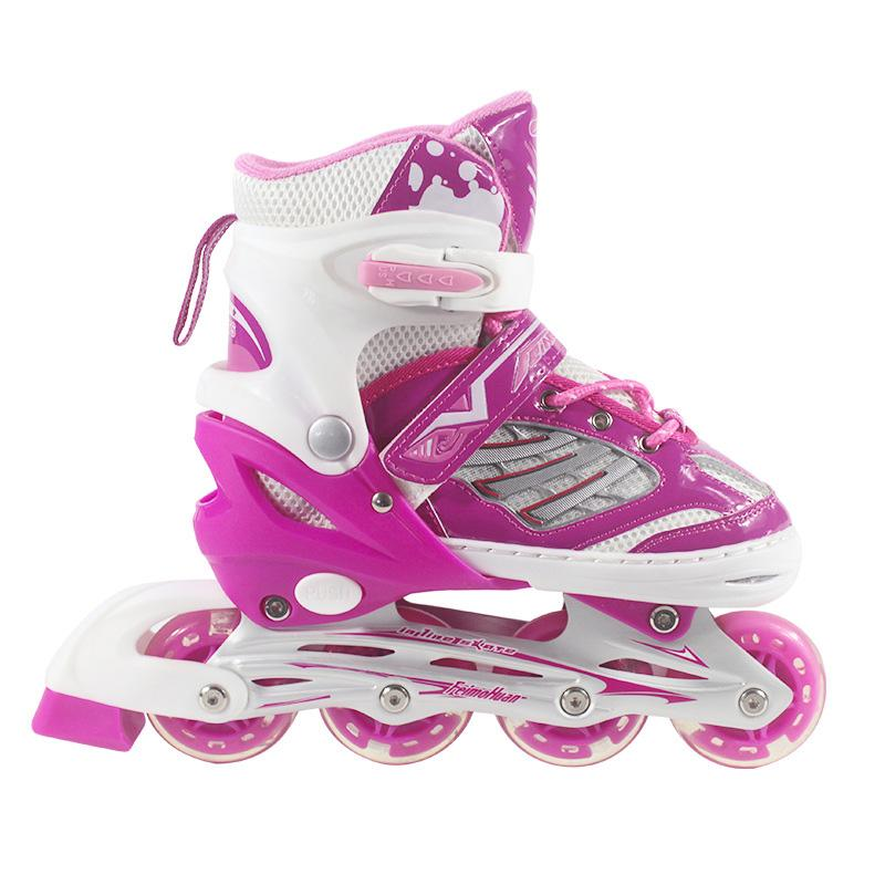 2019 NEW Inline Professional Women Adult Kids Slalom Sliding Ice Skates PP Skating  Shoes Adjustable All Wheels Flashing Patines From Jasperwu 4240525f86