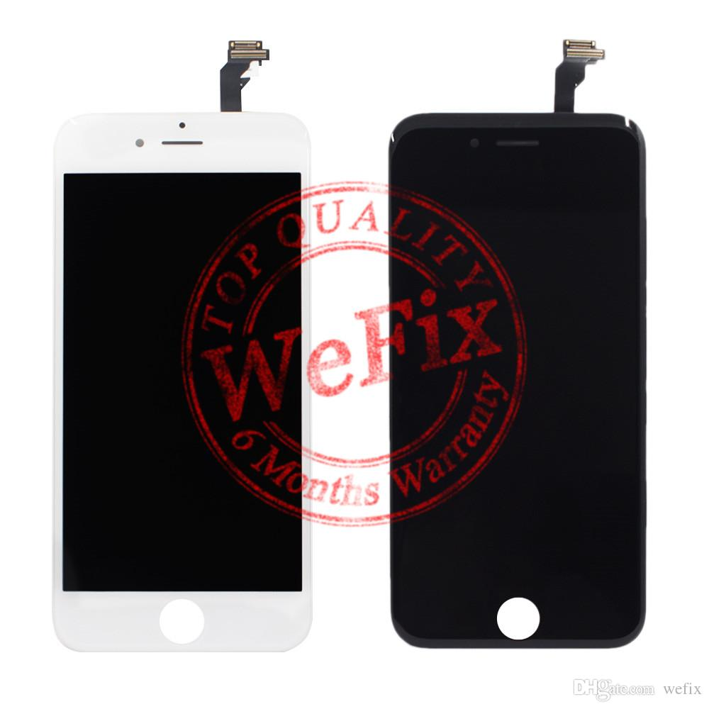 High quality Grade AAA Lcd Display replacement for iphone 6 & 6 plus touch screen digitizer assembly repair parts white black color free shi