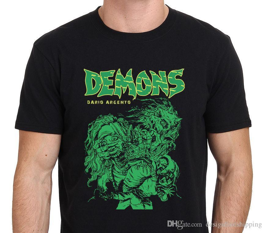 Printed Tee Shirt Crew Neck Short Demons Classic Dario Argento 80'S Horror Movie Drawing Tall T Shirt For Men