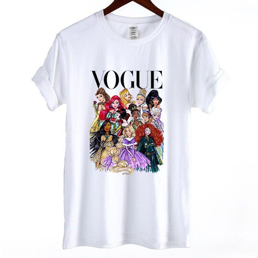 Femme En Beoxdc Shirt Mignon Acheter T Princess Coton Femmes Vogue CerWdxBo