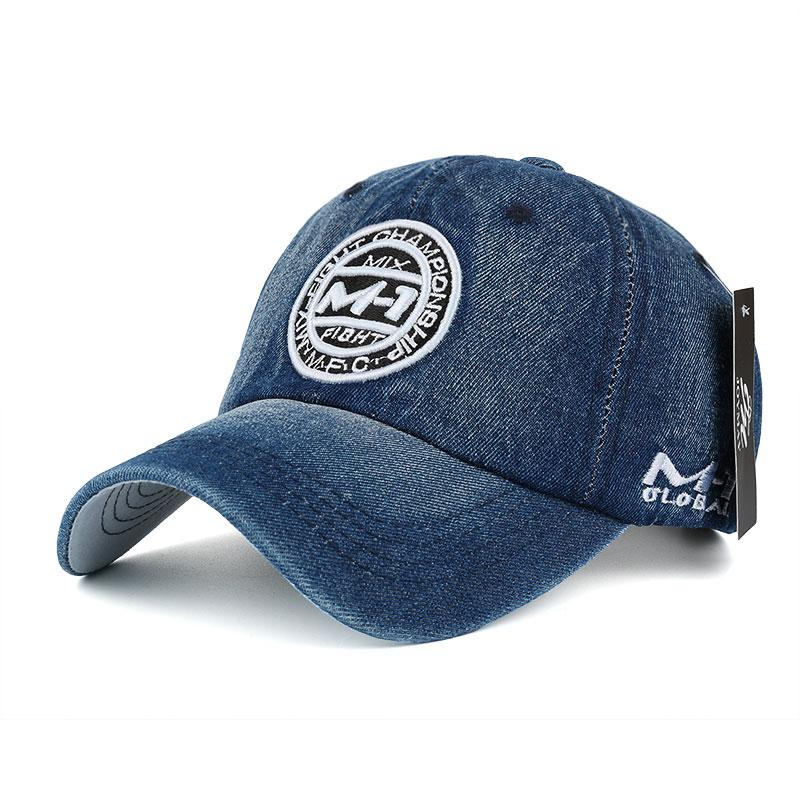 14762cf122 Joymay 2018 New High Quality Snapback Cap Demin Baseball Cap 5 Color Jean  Badge Embroidery Hat for Men Women Boy Girl Cap B346