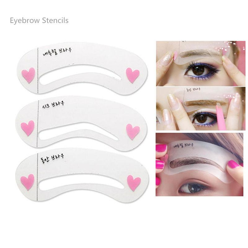 Korean Makeup Magic Eyebrow Stencil Shapes 3 Styles Template