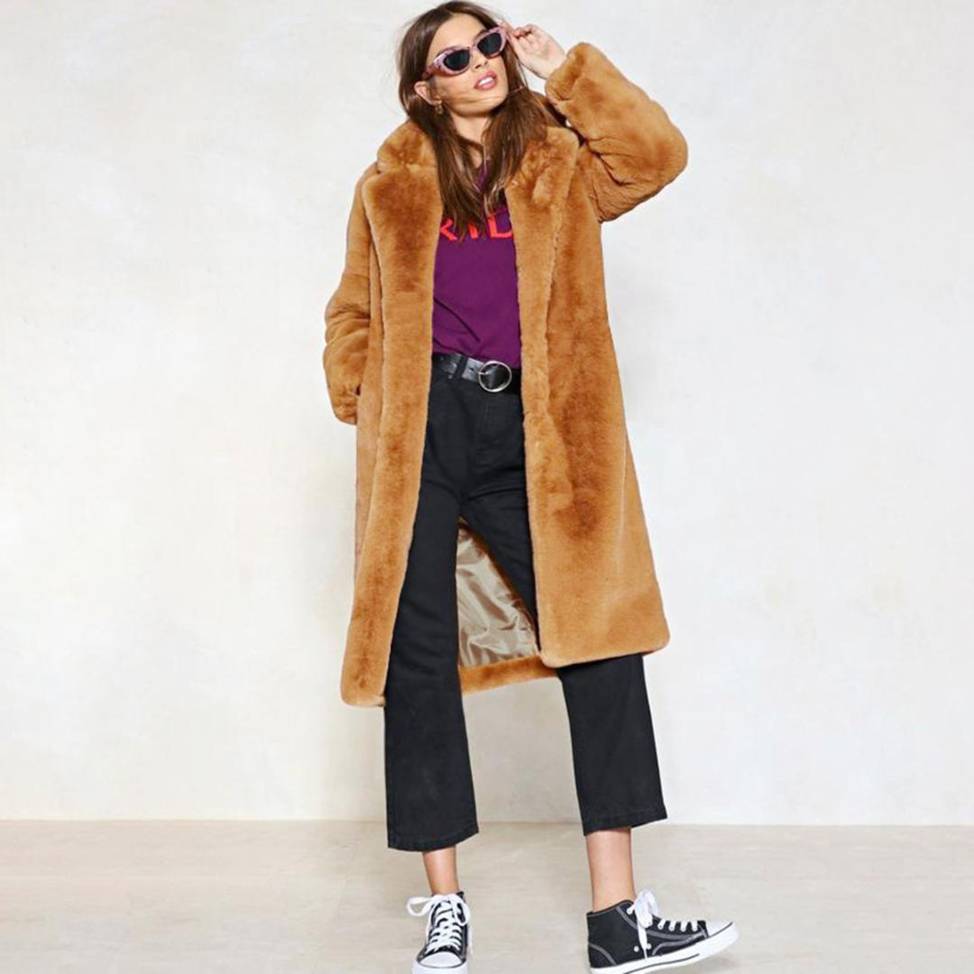 Tell rabbit fur coat vintage