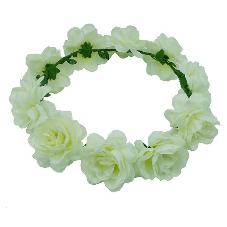 Горячая продажа Богемия свадьба невесты цветок Корона детская голова украшения венки ручной работы искусственные цветы обруч для волос t3i0318
