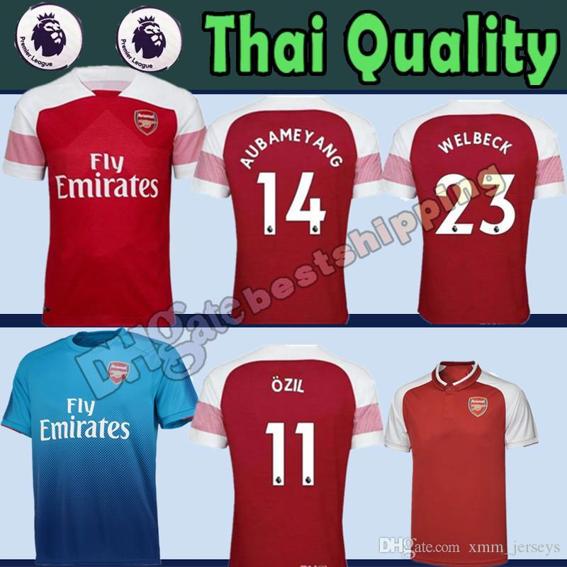 New Arsenal AUBAMEYANG 14 Soccer Jersey 2018 2019 Man ALEXIS  7 ... 3f4edbb44