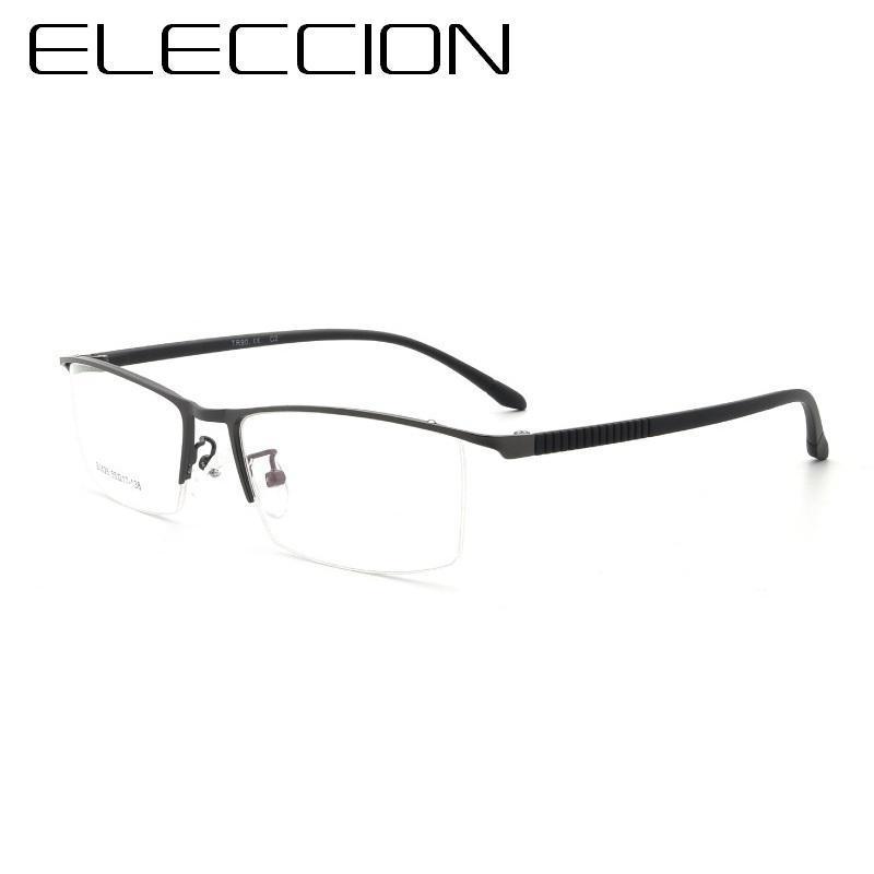 96a3892c6f Compre Eleccion 2018 New Eyewear Alloy Rim Medio Marco Monturas De Gafas  Ópticas Para Hombres Gafas Transparentes Para Miopía Marco De Gafas A  $23.06 Del ...