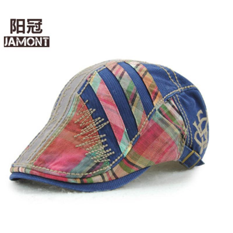 0efd62fa11b 2019 JAMONT 2018 Adjustable Beret Caps Spring Summer Outdoor Sun Breathable Bone  Brim Hats Womens Mens Herringbone Flat Berets Hat From Shanqingmou