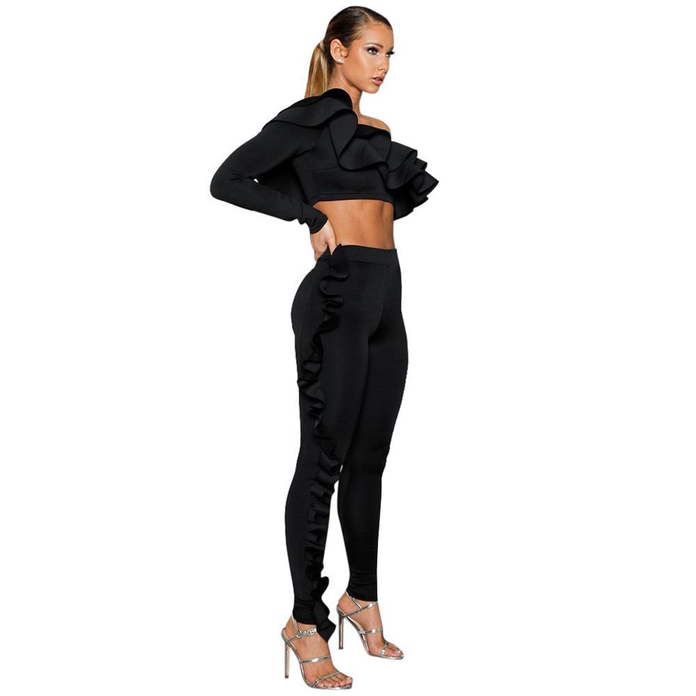 471d99d7fff Two piece rompers womens jumpsuit black one shoulder long jpg 1000x1000  Black ladies jumpsuit