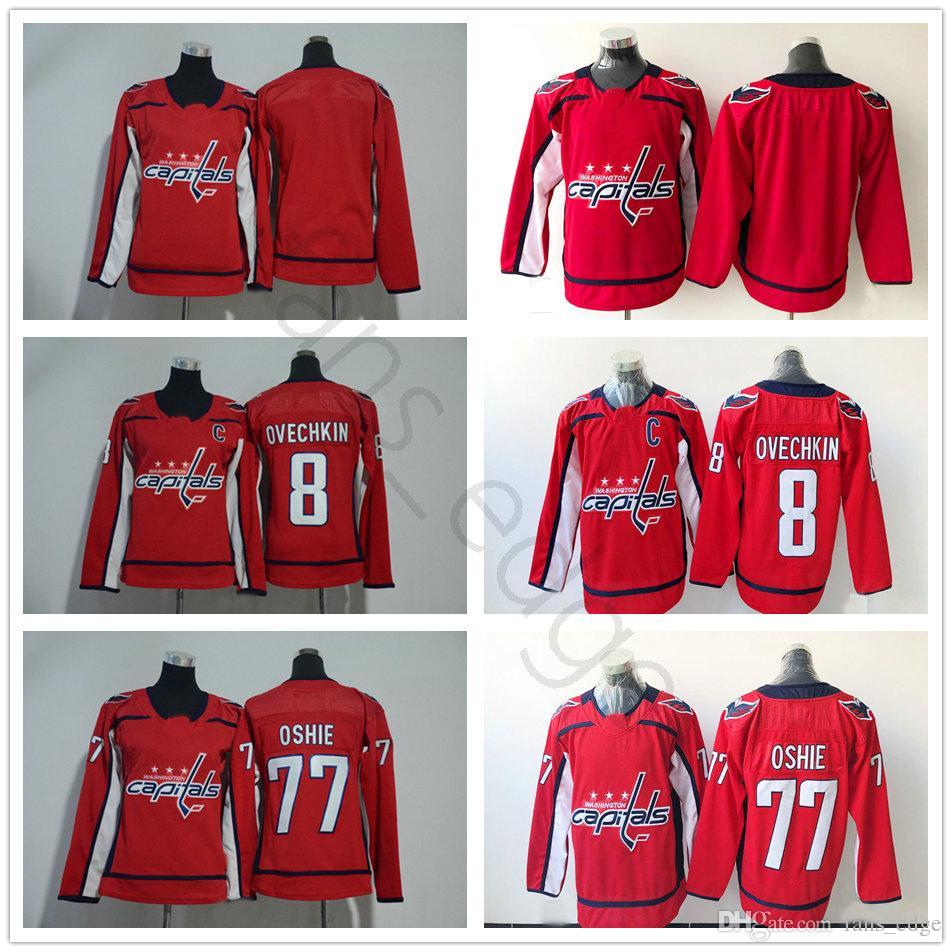 wholesale 2018 new washington capitals ice hockey jerseys 77 t.j. oshie 8 alex ovechkin red blank me