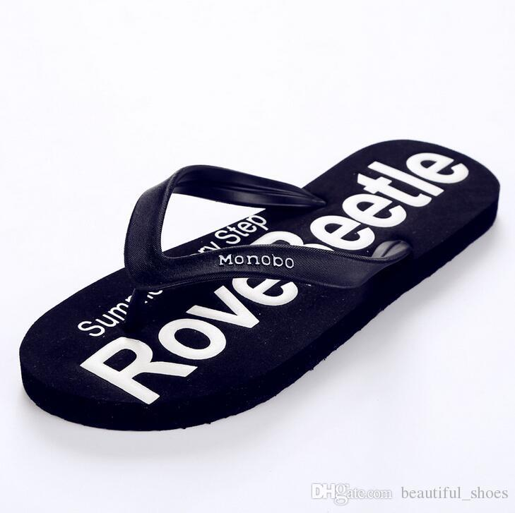 2017 summer slippers men non-slip clip feet flip flops breathable platform sandals casual shoes PVC handsome fashion thin