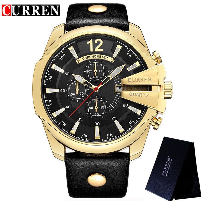 0ee0021fb33 CURREN Watch Men Waterproof Calendar Sport Male Clock Top Brand Luxury Big  Dial Man Wristwatch Relogio Masculino 8176 Wristwatch 24 Hour Wristwatch  From ...