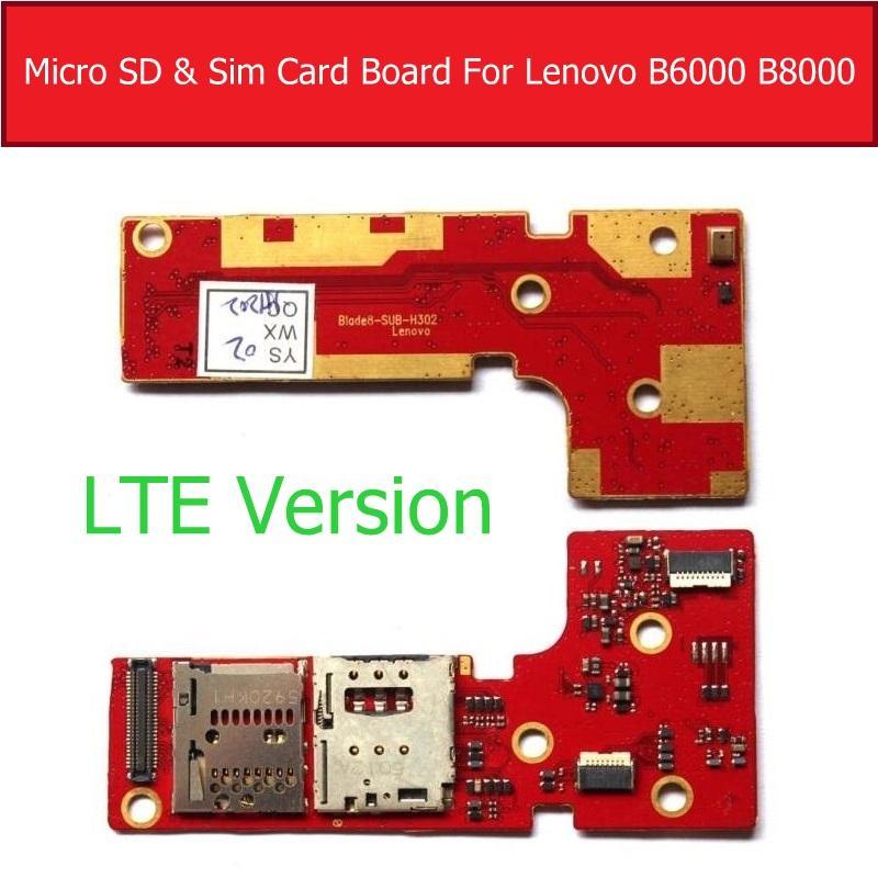 Sim Karte Für Tablet.Echte Lte Wifi Version Micro Sd Sim Karte Board Für Lenovo Tablet Pad Yoga 8 10 B6000 B8000 Speicher Sim Karte Buchse
