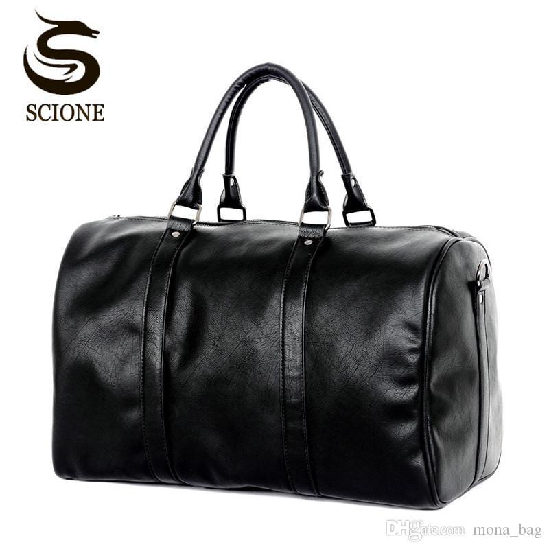 Fashion Design Large Capacity Shoulder Handbag Travel Duffle Bag Men Women  Travel Bag PU Leather Messenger Bags Vintage Mens Bag Best Gym Bags Large  Duffel ... 9d34e2e80b70b