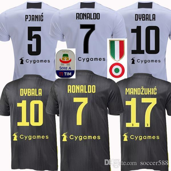 the latest 6195d 56716 Thailand 18 19 CR7 RONALDO juventus 3rd soccer jerseys 2018 2019 football  shirts DYBALA PJANIC MANDZUKIC Camiseta MATUIDI maillot de foot