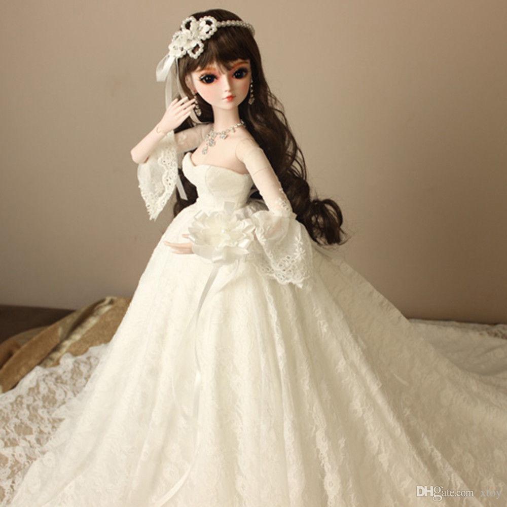 Handmade Wedding Girl Doll 1/3 60cm Sd Bjd Doll 24 Jointed Gift ...