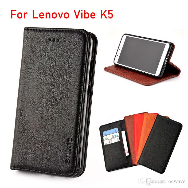 separation shoes 6c378 cc508 For Lenovo Vibe K5 case Luxury Flip cover Vintage Leather with Card Slot  Without magnets phone Cases for Lenovo Vibe K5 fundas coque