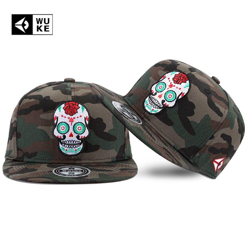 2018 Trend Basball Caps Men Camo Hats Trending Fashion Hip Hop Bones  Snapback Embroidery Novelty Cap For Men Women Camouflage Custom Trucker Hats  Compton ... 975e03fea
