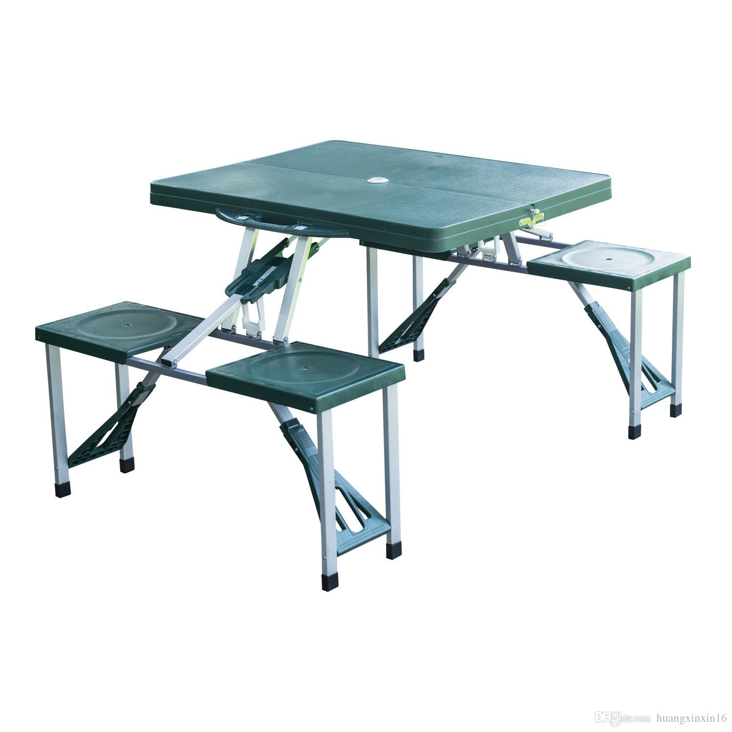 2018 Outdoor Portable Folding Plastic Garden Camping Picnic Table With 4  Seats Green From Huangxinxin16, $44.23 | Dhgate.Com