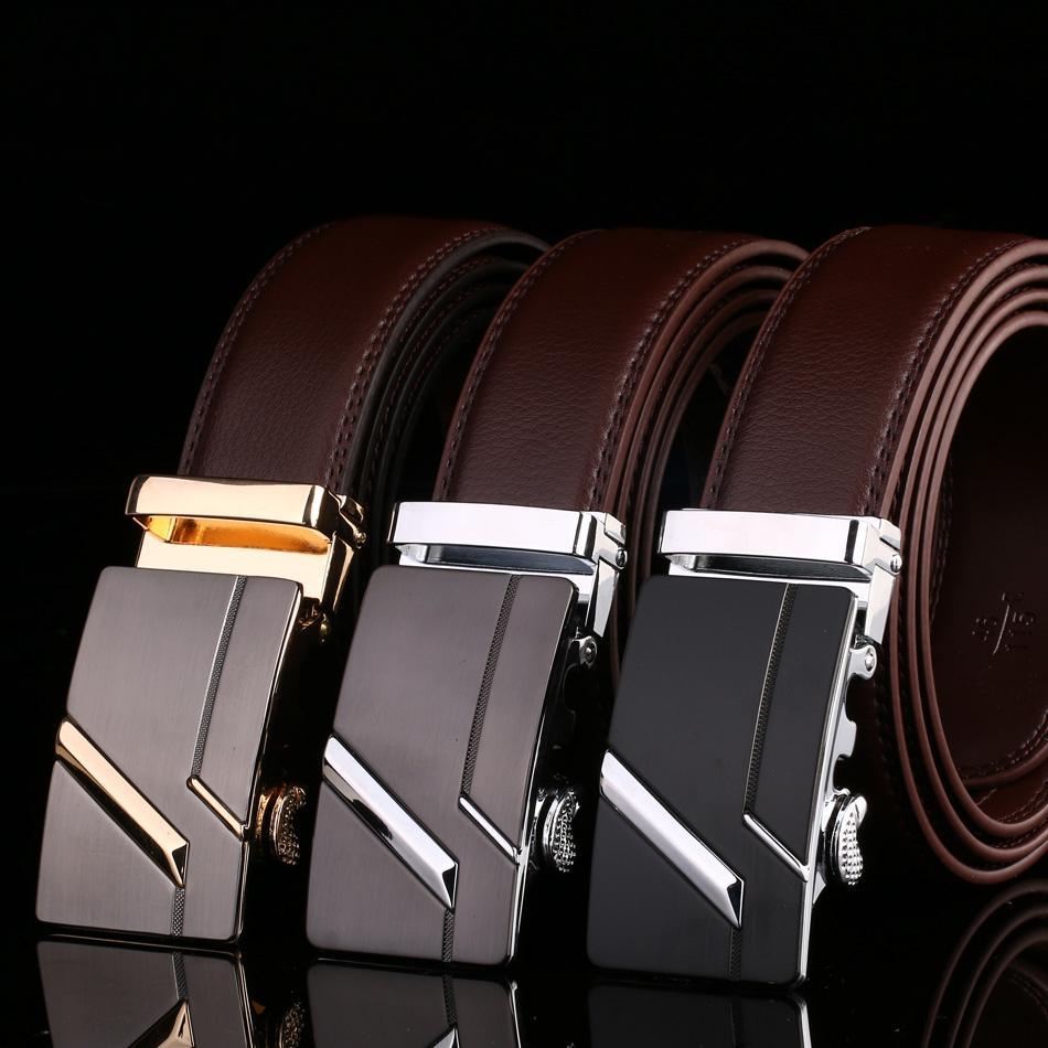 a856babbe Men s Belt Male Waist Belts Genuine Leather Automatic Riem Cinturon Hombre  Ceinture Homme Designer Cinto Masculino High Quality Genuine Leather Belt  ...