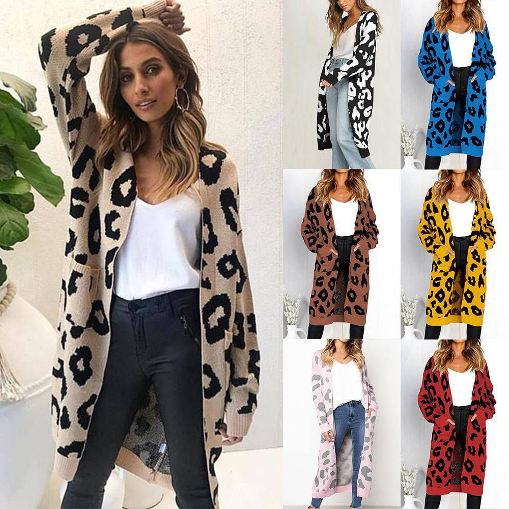 82e21c277792 2018 European And American Women s New Six-color Long-sleeved Knit ...