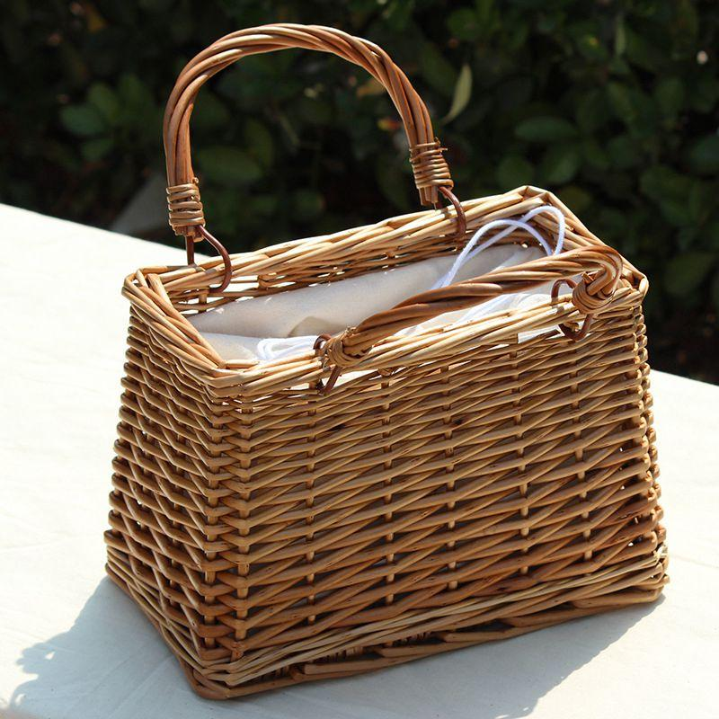 LJL Beach Straw Bags Women Summer Handbag Rattan Square Tote Bag ... 8eab5a666eba