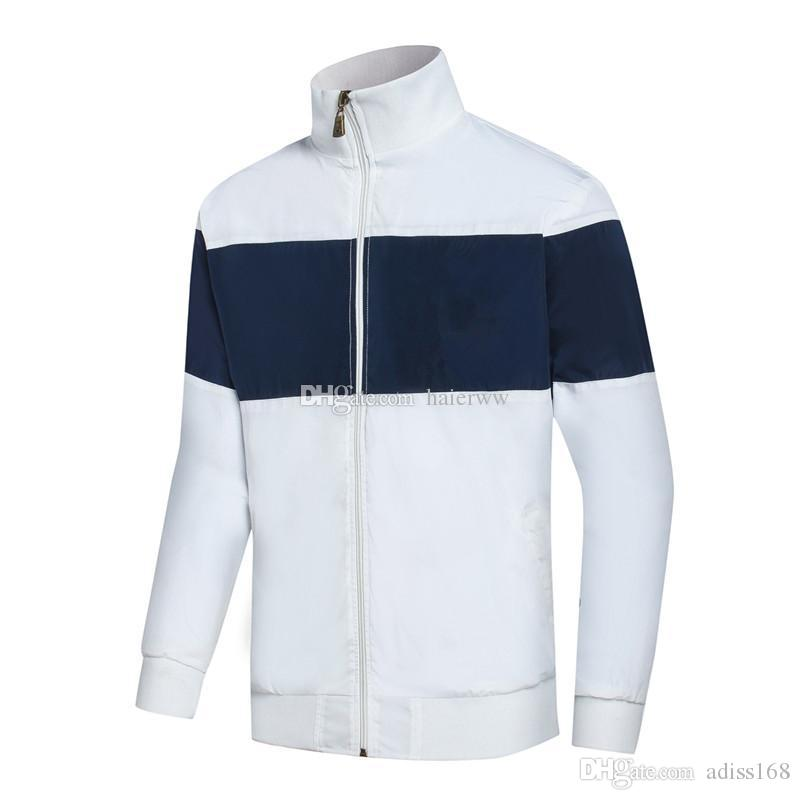 Fashion New Men Polo Jacket Spring Autumn Fall Casual Sports Wear Clothing  Windbreaker Zipper Up Coats M XXL Unique Mens Jackets Black Leather Bomber  From ... 1675fb3dd