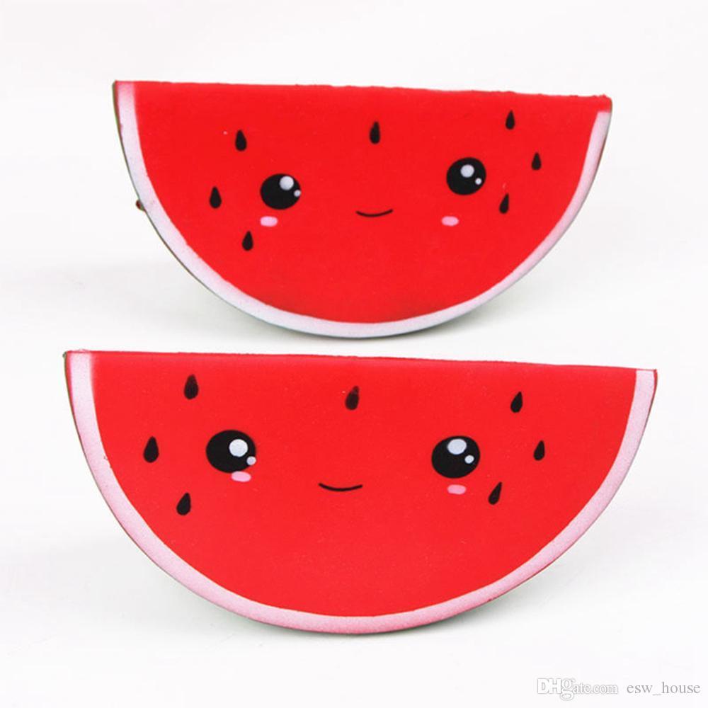 PU Yumuşacık Gülümseme Karpuz Yumuşak Meyve Jumbo Kokulu Sıkmak Yavaş Yükselen Simülasyon Ekmek Çocuk Oyuncakları Stres Rahatlatmak Oyuncak