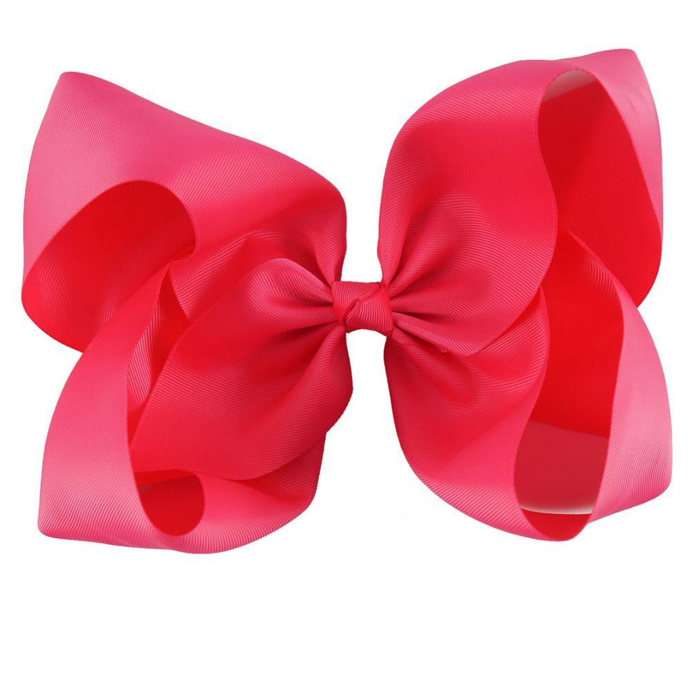 /10 Inch Large Solid Grosgrain Ribbon Hair Bow For Pretty Girls Children Kids Hairgrips Headwear Handmade Hair Accessories