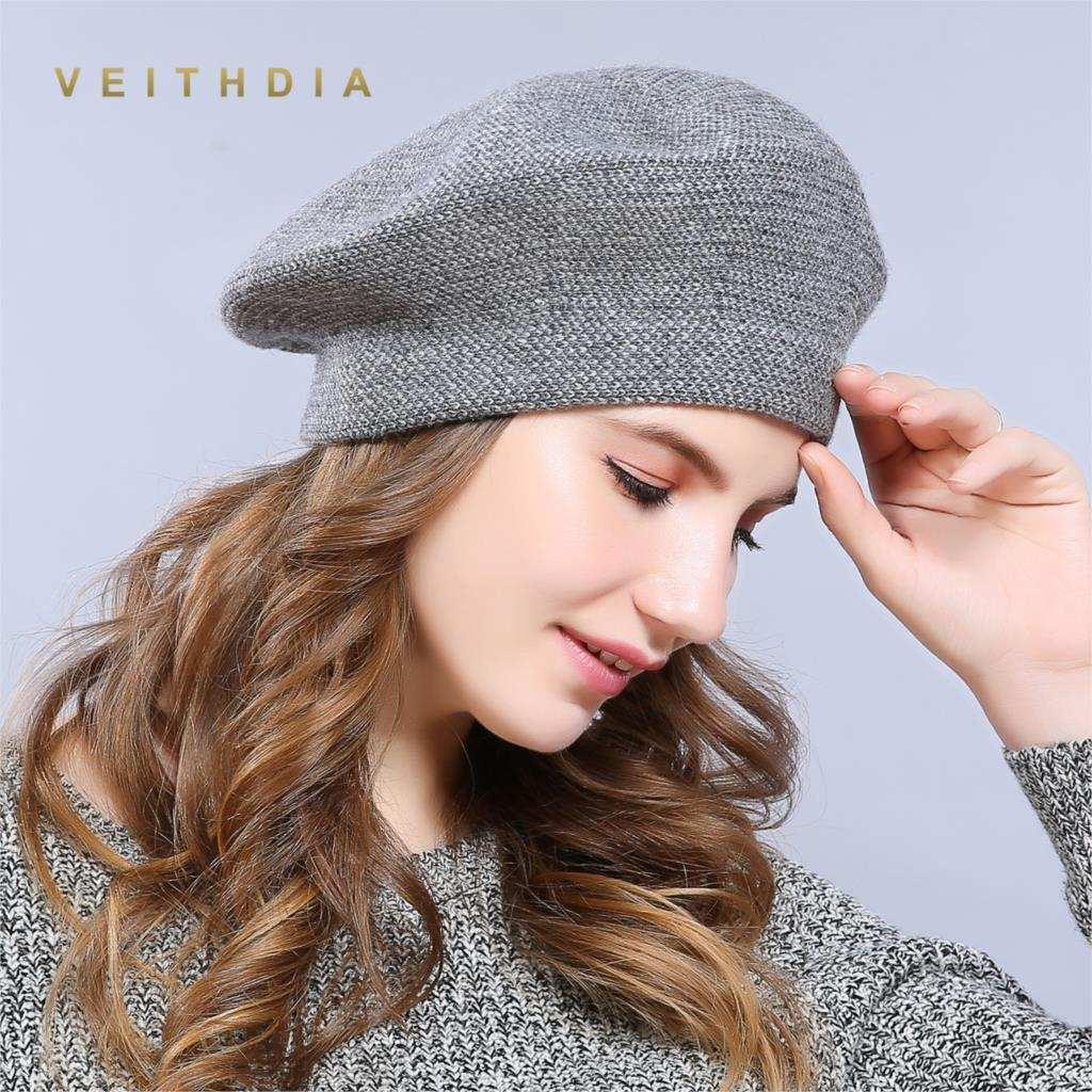 a22a82ec72db29 New Winter Hat Berets 2018 Wool Cashmere Womens Warm Brand Casual High  Quality Women's Vogue Knitted Hats For Girls Cap