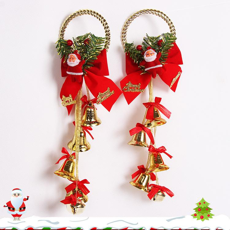 Christmas Ring.Santa Claus Rings Bells Christmas Tree Pendants Garlands Rattan Accessorie