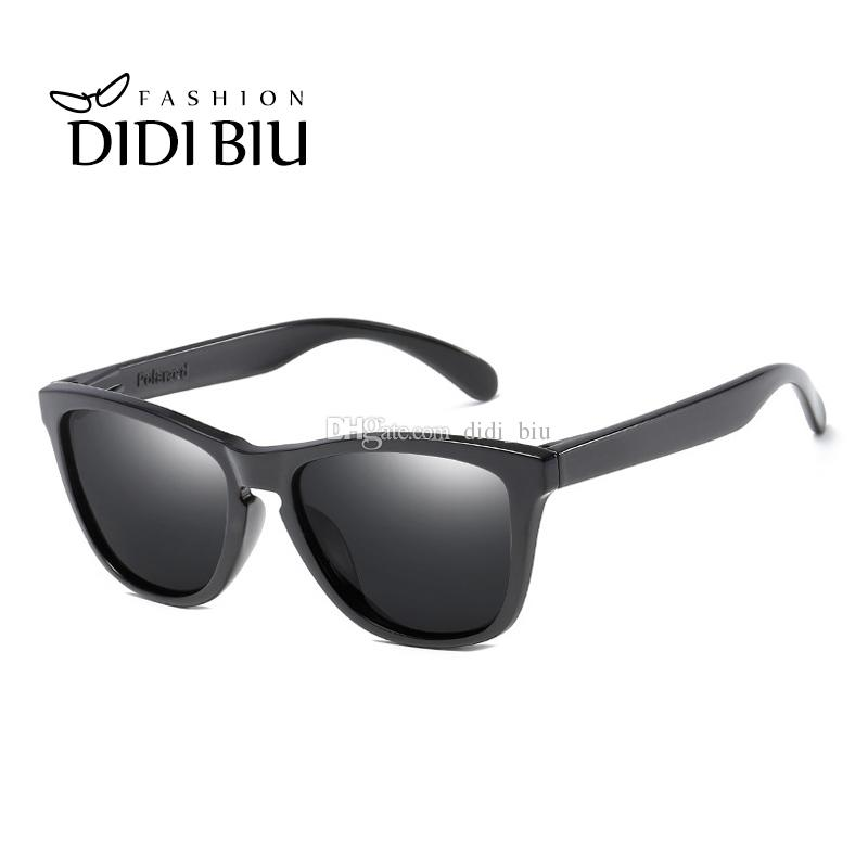 df7c8565ee4f DIDI Korean Classic Polarized Sunglasses Women Men Square Vintage Plastic  Frame Sun Glasses Black Shade Goggles Oculos UL935 Baby Sunglasses Designer  ...