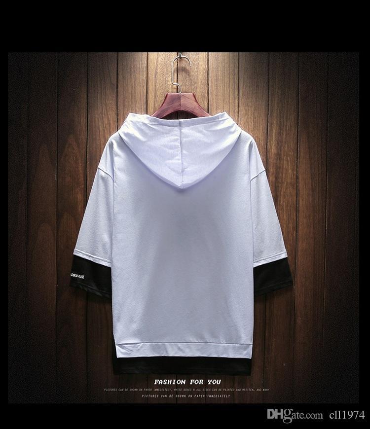 2018 nova camisola dos homens com capuz moda XX moda jeans, desgaste ocasional dos homens, roupas de adolescentes