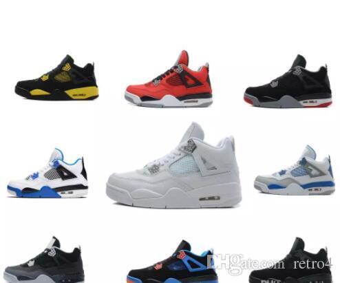 defac0593978e5 2018 Cheap New 4 Men Basketball Shoes 4s Black Cat Pure Money ...