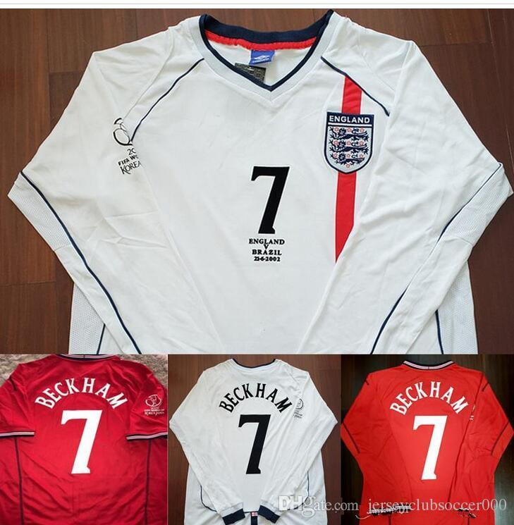 b521af601c 2002 Beckham Scholes Camiseta De Fútbol Owen Ronaldo Classic 02 Copa Del  Mundo De Fútbol Camiseta Calcio MAGLIA Maillot Camisa De Futebol Por ...