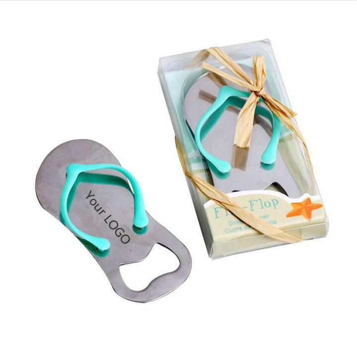 Wedding Party Gifts Starfish Flip Flop bottle opener Slipper Wine Opener Beach Festive Supplies individuation LOGO Free shipping