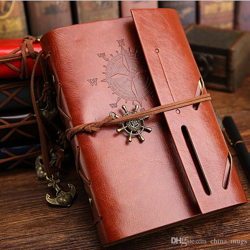 DHL Vintage Notebook Notepad Leather Bible Diary Book Zakka Journals Agenda Planner School Office Stationery Supplies