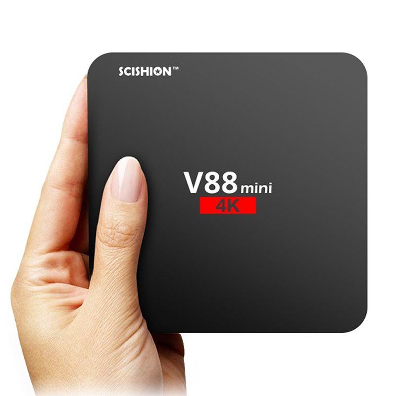 Android 7.1 V88 tv boxe Cheapest RK3229 Quad-Core 1GB 8GB Smart Tv Box WiFi 3D HDMI TV Cheap Set-top Box Media Player by niubility