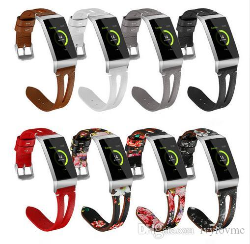 For Fitbit Charge 3 Genuine Leather Strap for Fitbit Charge3 Fashion  Replacement Watch Band Wrist Bracelet For Women Men Leather