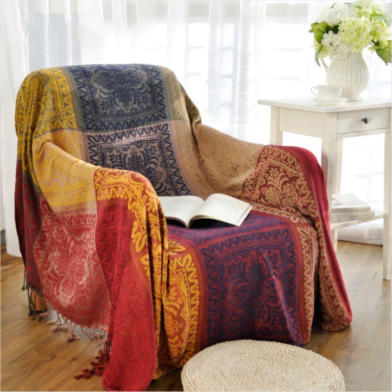 Großhandel Bohemian Chenille Decke Sofa Dekorative Schutzhülle Wirft Auf  Sofa / Bett / Flugzeug Travel Plaids Rechteckige Nähte Decken Von Douglass,  ...