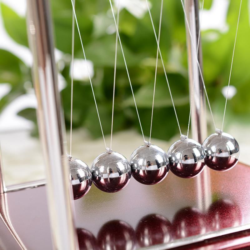 Cradle Fun Steel Balance Ball Physics Science Pendulum Fun Development Kids Toys for Children Games Gifts