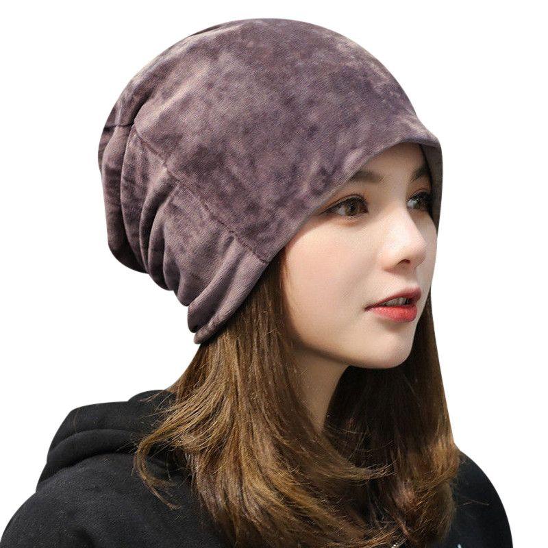 Warm Fleece Slouchy Beanie Hats For Women 2018 Winter Caps Ladies Velvet  Skullies Beanie Gorro Female Baggy Hat Bonnet Femme Cute Beanies Red Beanie  From ... 8819fd22281