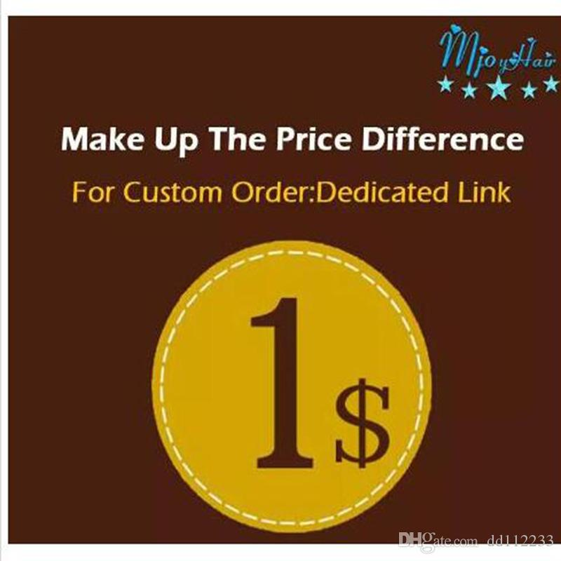 2018 Make up the Price Difference dedicated link shipping Make up patchs sock the difference Mjoyhair A dedicated link