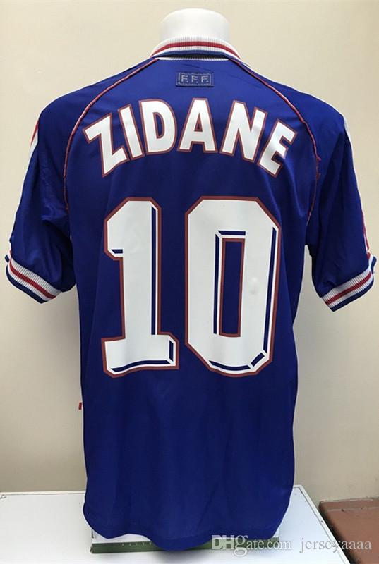 2e9bc14d2e1 2019 Retro Jersey Shirt ZIDANE 10 HENRY 12 Jersey Shirt Retro Soccer Jersey  Old Football Shirt France World Cup Size XXL From Jerseyaaaa
