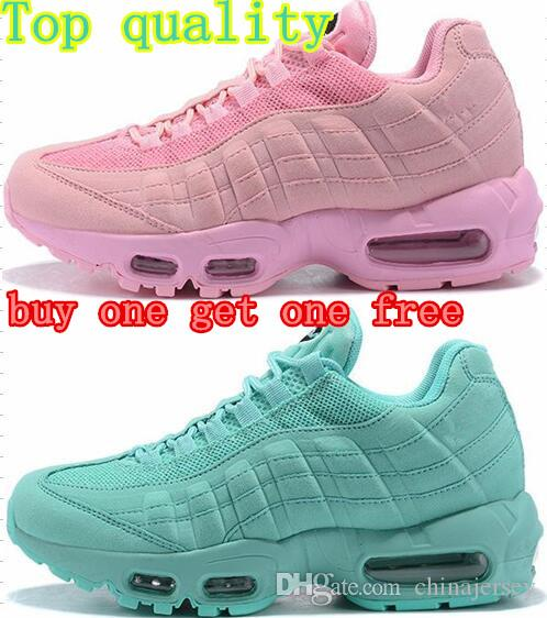 innovative design acf8c 62ceb 50% Off New Mens Womens Airs Cushion Sports 95 Running Shoes Athletic  Walking Tennis Shoes Pink White Training 36-40 Sneakers Drop Shipping 95 OG  95 Shoes ...