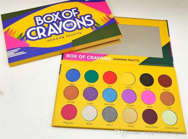 Dropshipping makeup Eyeshadow Palette Box of crayons ishadow palette Cosmetics Shimmer Beauty Matte Eye shadow THE CRAYONS CASE
