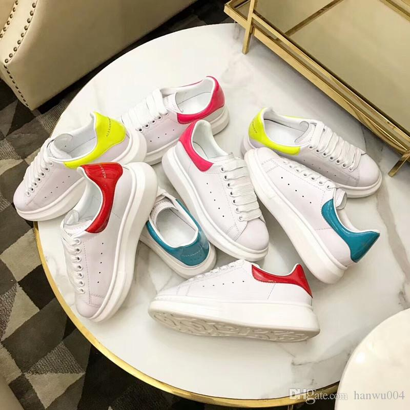 2018 brand new mens luxury arena creased leather sneakers low top shoes plus size 35-44 mens casual shoes yd030