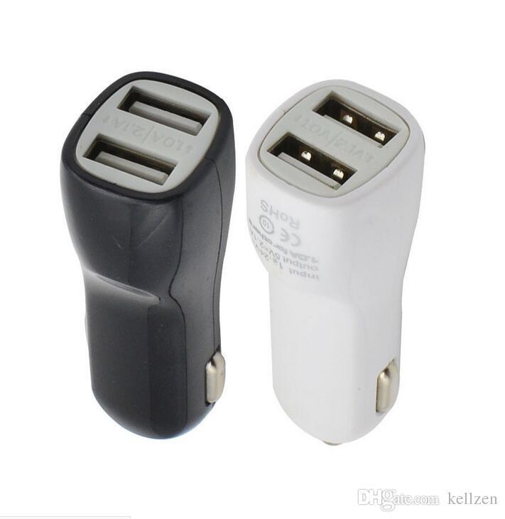 شاحن سيارة ثنائي USB 5V 2.1A 1A شاحن سيارة منفذ USB مزدوج لأجهزة iPad ، للآيفون 4/5/6/6 بالإضافة إلى Samsung Galaxy S3 S4 S5 Not 3 Note 4 Mp3 / Mp4