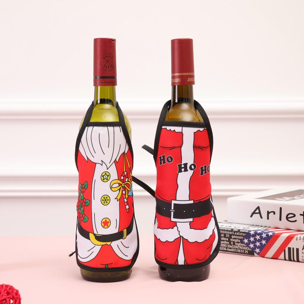 Christmas Decoration Wine Bottle Holder Santa Claus Cartoon Pet Home
