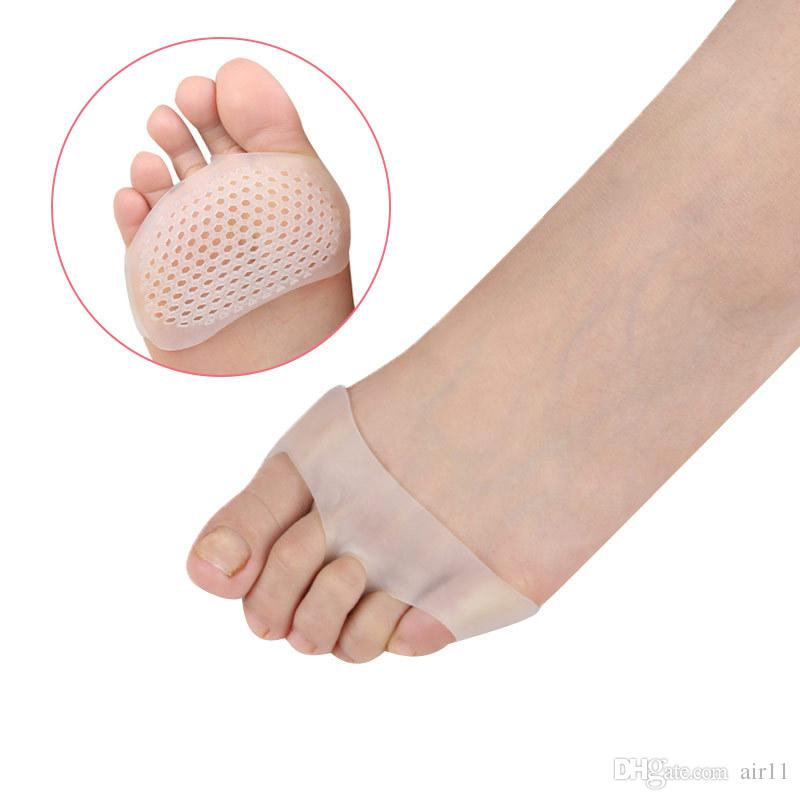 20pcs Cellular Breathable Soft Silicone Gel Toe Pads High heel shock Anti Slip-resistant metatarsal foot Pad Forefoot Pad 3 colors in stock