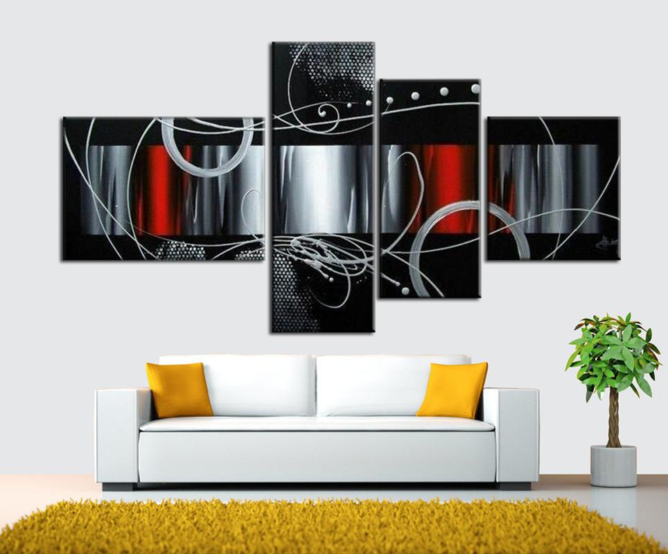 2019 4 Make Abstract Pictures Home Wall Painting Art Handicraft Home